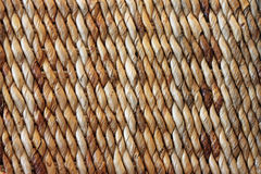 Closeup of a Brown Woven Basket with Diagonal Stripes. Closeup of a Brown Woven Straw Basket with Diagonal Stripes Stock Images