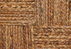 Closeup of a Brown Woven Basket Stock Photo