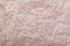 Closeup of brown wrinkled paper Royalty Free Stock Photography