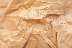 Closeup of brown wrinkled paper texture Royalty Free Stock Image