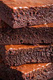 Closeup of brownies Royalty Free Stock Photography