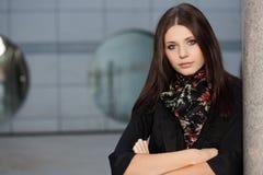 Closeup brunette  woman portrait Stock Photo