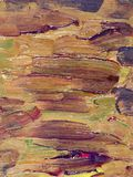 Closeup of brush-strokes of an an oilpainting Royalty Free Stock Image