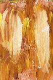 Closeup of brush-strokes of an an oilpainting Stock Photos