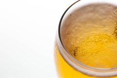 Closeup bubble glass of beer Royalty Free Stock Image