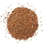 This is Closeup of buckwheat isolated on white. Royalty Free Stock Images