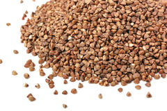 This is Closeup of buckwheat isolated on white. Stock Photos