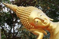 Closeup of Buddha Face Stock Photo