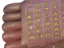 Closeup of Buddha foot Royalty Free Stock Image