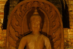 Closeup of a buddha statue Royalty Free Stock Photo