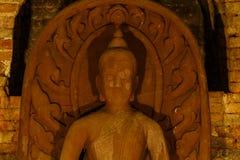 Closeup of a buddha statue.  Stock Illustration