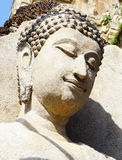 Closeup Buddha statue sculpture at temple in Sukhothai Royalty Free Stock Photo