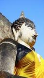 Closeup Buddha statue sculpture at temple in Sukhothai Stock Photos