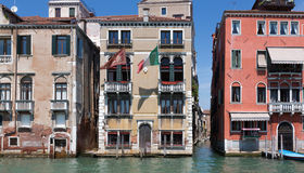 Closeup of Building along Grand Canal Venice Royalty Free Stock Image