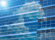 Closeup building glass of skyscrapers with cloud, Business concept of architecture.  stock photos