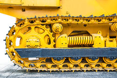 Closeup of bulldozer Royalty Free Stock Photography
