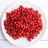 Closeup of a bunch of delicate and fresh redcurrants Stock Photo