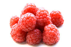 Closeup of a bunch of red raspberries Royalty Free Stock Photography