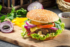 Burger made ​​from vegetables Stock Photo