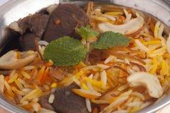 Closeup of a buriyani dish Royalty Free Stock Photography