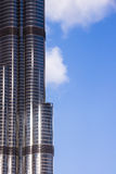 Closeup of Burj Khalifa stock image