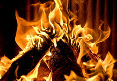 Closeup of burning fire Royalty Free Stock Photo