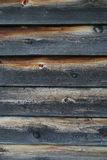 Closeup of burnt weathered wooden planks Royalty Free Stock Photos