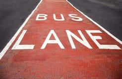 Closeup of the bus lane sign. At Sydney, Australia Stock Photo