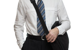 Closeup of business briefcase Stock Images