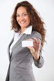 Closeup of business card Royalty Free Stock Image
