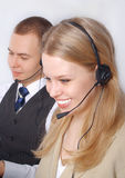 Closeup of a business customer service people Royalty Free Stock Image