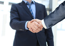 Closeup of a business hand shake Stock Image