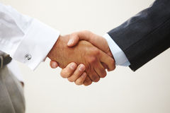 Closeup of a business handshake Royalty Free Stock Photography