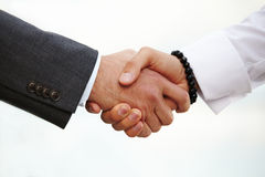 Closeup of a business handshake Royalty Free Stock Image