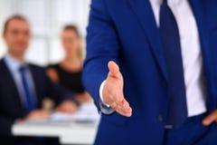 Closeup of a business handshake Stock Photos