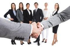 Closeup of business handshake Royalty Free Stock Photo