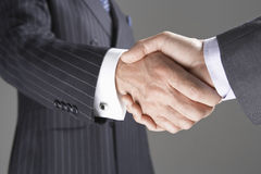 Closeup Of Business Handshake Stock Photography