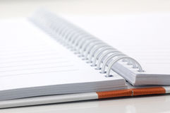 Closeup of business paper note book Stock Photos