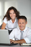 Closeup of business people Stock Image