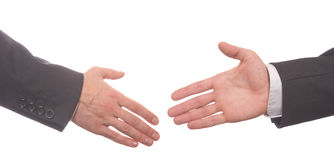 Closeup of business people shaking hands Royalty Free Stock Photo