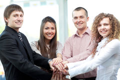 Closeup of business team Stock Images