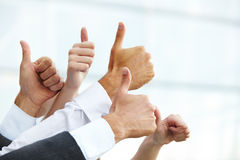 Closeup of a Business Thumbs Up Royalty Free Stock Photo