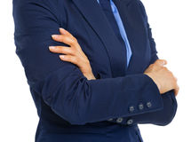 Closeup on business woman with crossed arms Stock Image