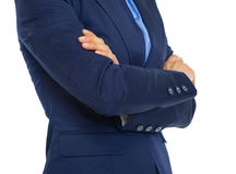 Closeup on business woman with crossed arms Royalty Free Stock Photo