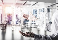 Modern technologies for successful business concept. royalty free stock photography