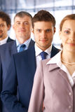 Closeup of Businessman With Colleagues. royalty free stock image