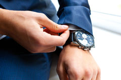 Closeup of businessman hands Stock Photos