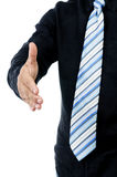 Closeup of businessman offering handshake Stock Images