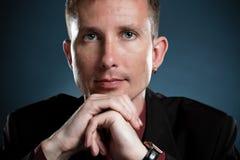 Closeup businessman portrait stock photography
