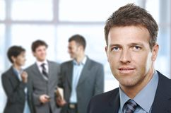 Closeup businessman portrait royalty free stock photos